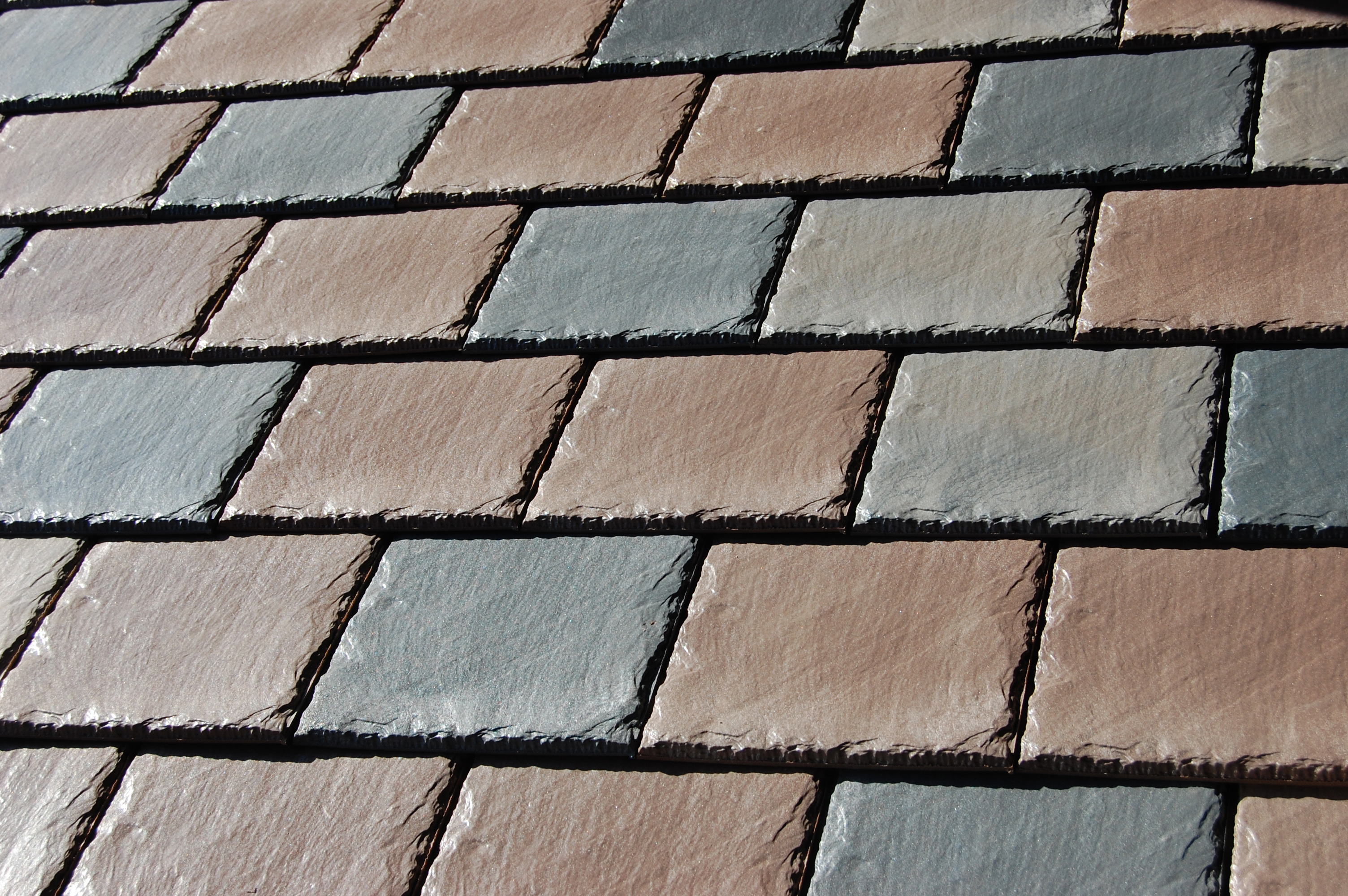 Polysand new weathered saddle brown slate color Composite roofing tiles