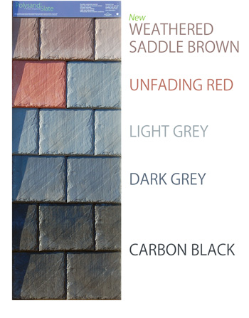 Polysand Synthetic Slate tile colors